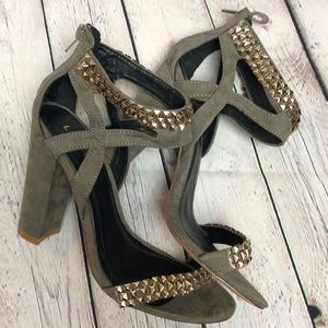 Size 9 Suede Studded Liliana Heels